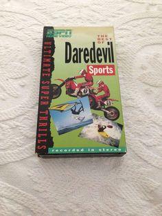 Daredevil Sports VHS ESPN Home Video 1990 NTSC NR Kayaking/Canoeing MotorSports