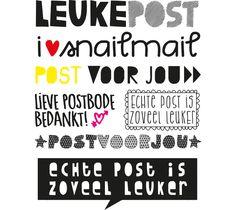 ~Leuke snail-mail woorden om uit te printen~