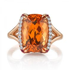 Omi Prive: Spessartite Garnet and Diamond Ring, Style RC1451-SGCU