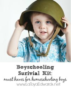 Here are a few things that I believe are must haves when you are homeschooling boys. Just a few homeschooling ideas to add to your homeschool mom survival kit while you educate that baby boy of yours!