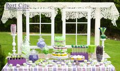 Sweet Pea Baby Shower Dessert Table - perfect for a spring baby shower!