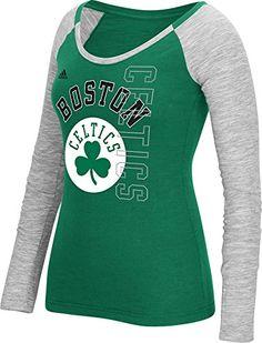 NBA Boston Celtics Womens Team Liquid Dots Long Sleeve Slub Tee Medium Green *** You can get more details by clicking on the image.