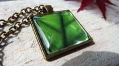 CIJ Sale Emerald green necklace Emerald green pendant  by LiliaLy, €11.50