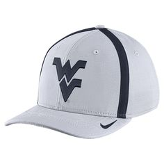 15a4104a Our Sideline Swoosh Flex cap is constructed in 100% Dri-FIT polyester  fabric with