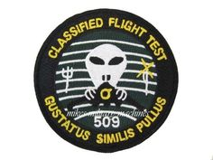USAF Area 51 Air Force Black Ops Stealth B-2 509th Classified Flight Test Patch