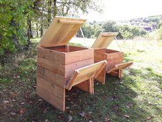 Build Compost Bin, Vegetable Garden Design, Outdoor Chairs, Outdoor Decor, Pallets Garden, Garden Seating, Garden Structures, Artisanal, Eco Friendly