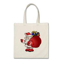 Santa Clause tote bag