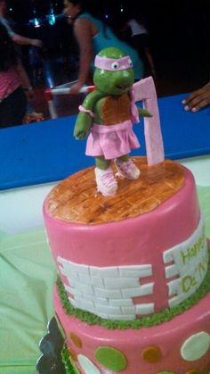 Ninja turtle girlie skate cake!!!