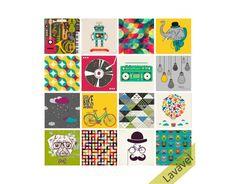Azulejo Hipster -  fazem tamanho personalizado sob encomenda_Dona Cereja