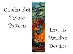Peyote Bracelet Pattern - Golden Koi  - Peyote Stitch Pattern (Buy any 2 and get one Free). $6.50, via Etsy.