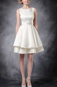 This beautiful vintage style #DestinationWeddingGown is so simple and lovely. A real treat for a bride looking for something from an older, more glamorous age. Vintage Bateau Short Wedding Gown Style Code: 09604 $120 Order this wedding gown here: http://www.outerinner.com/vintage-bateau-short-wedding-gown-pd-09604-13.html #OuterInner