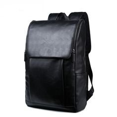 79627168db  gt  gt  gt Coupon CodeFlap Pocket Mens Leather Backpacks Large Capacity  Vintage Double