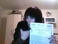 #WTworldtour Look at my guinea pig paw! Meškis also want my ticket of WT!  This ticket was the best gift for my birthday :).