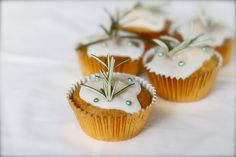 Rosemary Honey Cupcakes.
