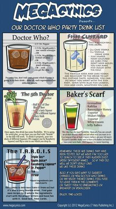 Good Doctor Who drink recipes!