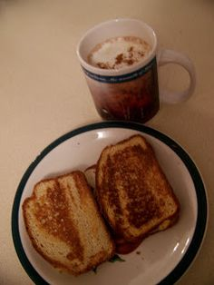 Ginny's Low Carb Kitchen: Grilled Cheese Sandwich and Hot Chocolate