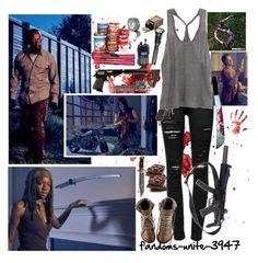 Walking Dead season 6 premier!!!!!!! by fandoms-unite-3947 on Polyvore featuring Inhabit, Frame Denim and AllSaints
