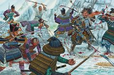 First battle of Uji Bridge (1180). Minamoto warriors helped by several monks tried to destroy the bridge to prevent the Taira forces captured the fugitive prince Mochihito. The commander Minamoto: Minamoto no Yorimasa, was hit by an arrow and committed seppuku to avoid capture, would be the first or one of the first to do so in the history of the samurai.