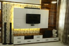 Modern TV wall units for living rooms - Wooden TV cabinets designs 2020 unit decor Top Of unit decor Wooden Lcd Unit Design, Lcd Wall Design, Modern Tv Unit Designs, Tv Unit Interior Design, Tv Unit Furniture Design, Wall Unit Designs, Living Room Tv Unit Designs, Office Furniture, Modern Furniture