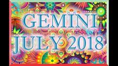 GEMINI LOVE TAROT READING JULY 2018! Tarot Horoscope, Love Tarot Reading, Sagittarius Love, Leo Love, Horoscopes, Neon Signs, Youtube, Cancer, Horoscope