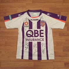 Perth Glory Football Soccer Shirt Jersey Signed Autographed 2014 Youth Size 14 | eBay