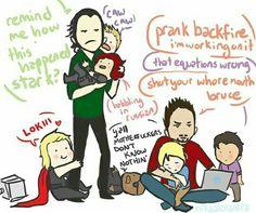 Loki & Tony : terrible fathers. XD