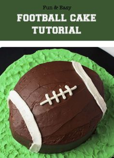 You'll be the MVP of your next game day celebration with this fun (and easy!) no-carve football cake. Get the step-by-step instructions here.