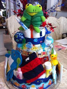 Nautical diaper cake - reverse side