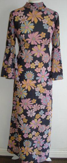 original vintage maxi, long, full length, festival dress in multi colours | eBay