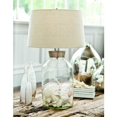 Coastal Treasure Keepsake Fillable Lamp