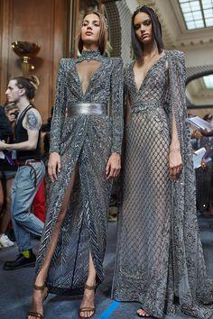 Paris Couture Week Backstage pics by - Moda Femminile Gala Dresses, Couture Dresses, Fashion Dresses, Wedding Dresses, Style Haute Couture, Couture Week, Couture Details, Elegant Dresses, Beautiful Dresses