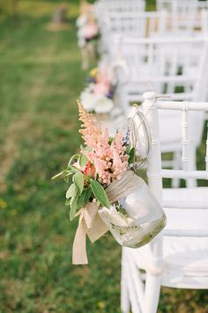 Beautiful aisle decoration - Backyard DIY Italian Wedding by Bayly & Moore - via ruffled