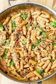Chicken and Broccoli Pasta with Sun-Dried Tomato Cream Sauce