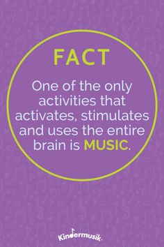 FACT: One of the only activities that activates, stimulates and uses the entire brain is MUSIC. Music Classes For Babies, Music For Toddlers, Piano Lessons, Music Lessons, Nursery Rhythm, Music Therapy Activities, Physical Development, Music And Movement, Early Literacy