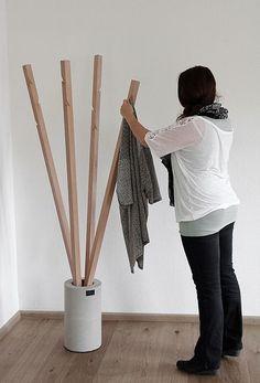Echt.Land - Produkte: Garderobe aus Holz und Beton