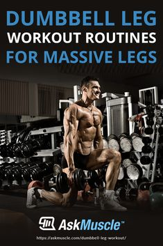 Is adding leg muscle mass too hard? Squat those twig-sized legs away with these intense dumbbell leg workout routines for massive, head-turning wheels! Dumbbell Workout Routine, Leg Routine, Dumbbell Squat, Workout Routines, Workout Videos, Workouts, Muscle Up, Muscle Mass, Massive Legs