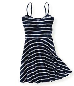 Striped Knit Dress - Aeropostale