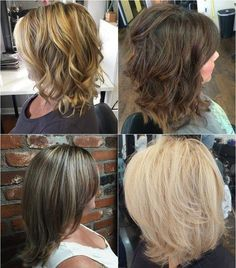 layered medium length haircut for thick hair