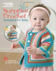 Free Easy crochet Patterns for Baby Cardigans and Baby Crochet sweater pattern or layette Sets. Nothing is as cute as baby wearing a beautiful handcrafted crochet cardigan or a cute crochet sweater. Crochet Baby Sweater Pattern, Crochet Baby Sweaters, Baby Sweater Patterns, Crochet Baby Clothes, Baby Patterns, Baby Knitting, Crochet Patterns, Knitted Baby, Crochet For Kids