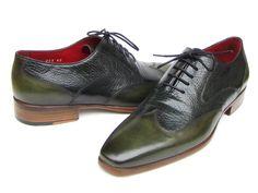 Paul Parkman Men's Wingtip Oxford Floater Leather Green (ID