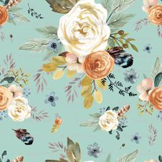 Bohemian Roses Fabric - Western Autumn Dry Green By Shopcabin - Boho Vintage Floral Western Cotton Fabric By The Metre by Spoonflower Woodland Nursery Bedding, Baby Girl Nursery Bedding, Rustic Bedding, Crib Bedding, Baby Room, Girl Cribs, Crib Blanket, Vintage Floral, Spoonflower