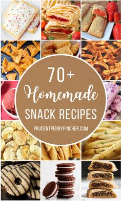 70 Homemade Snack Recipes Make your favorite snacks at home with these homemade snack recipes. From chips to cookies, there are many recipes for your favorite store-bought snacks. Snacks To Make, Easy Snacks, Food To Make, Healthy Snacks, Appetizer Recipes, Snack Recipes, Cooking Recipes, Lasagna Recipes, Appetizers