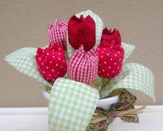 Como hacer tulipanes en tela para mamá ~ Solountip.com