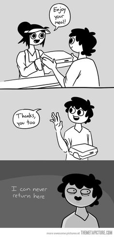 "Social skills fail... This happens to me all the time. When someone says, ""Hello!"" And then i say, ""Good! Thank you!""... -facepalm-"