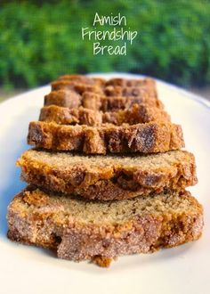 Amish Friendship Bread ~ got a bag from a friend when I was young, add more ingredients and you get 4 more starters to share with friends...a fun tradition that keeps on giving! Delicious, fun, great memories!