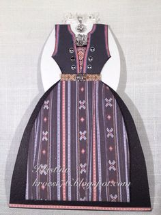 Scandinavian Festival, Scandi Style, Craft Patterns, Card Making, Paper Crafts, Shirt Dress, Dame, How To Make, Cards