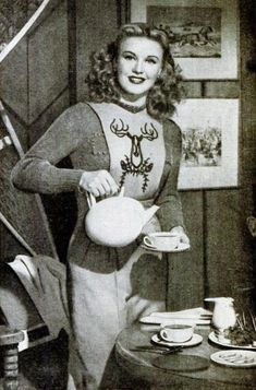 Ginger Rogers - love the design on her top!