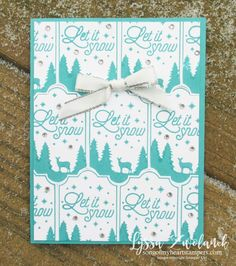 Let it snow stamp Merry Label punch background technique stampin up rubber punches Diy Christmas Cards, Stampin Up Christmas, Xmas Cards, Simple Christmas, Holiday Cards, Holiday Ideas, Winter Cards, Card Making, Merry