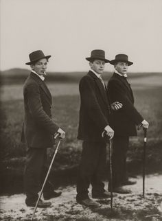 Bid now on Three Young Farmers on their Way to a dance, Westerwald by August Sander. View a wide Variety of artworks by August Sander, now available for sale on artnet Auctions. August Sander, Documentary Photographers, Portrait Photographers, Classic Photographers, Diane Arbus, Museum Ludwig Köln, Art Actuel, Young Farmers, Andre Kertesz