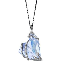 """One of a Kind """"Galaxy""""  Water Opal Charm Necklace ($46,000) ❤ liked on Polyvore featuring jewelry, necklaces, accessories, charm jewelry, 18k necklace, 18k jewelry, charm necklace and cosmic jewelry"""